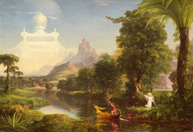 1599px-Thomas_Cole_-_The_Voyage_of_Life_Youth,_1842_(National_Gallery_of_Art)-min